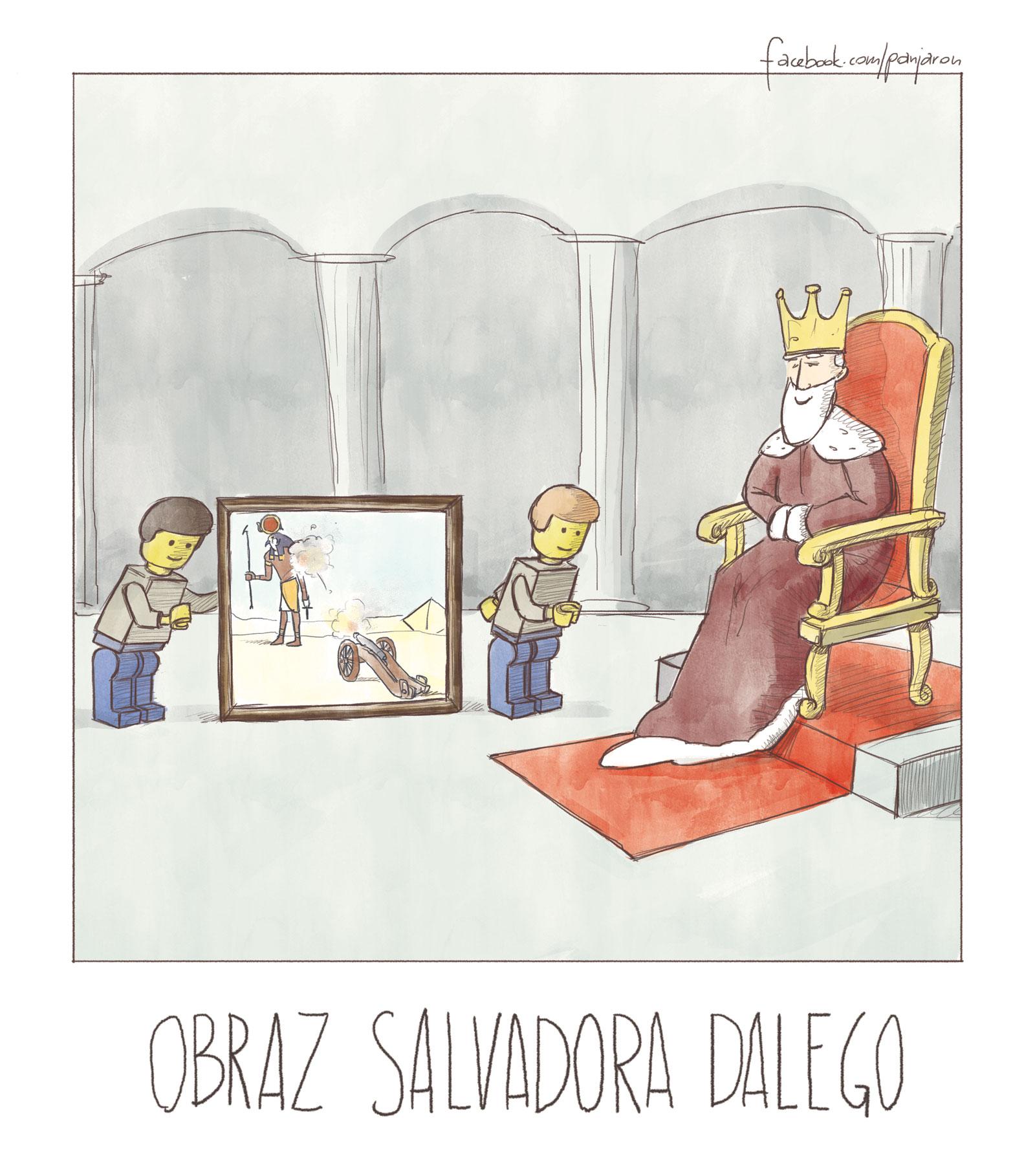 Jaroński rysownik - obraz Salvadora Dalego
