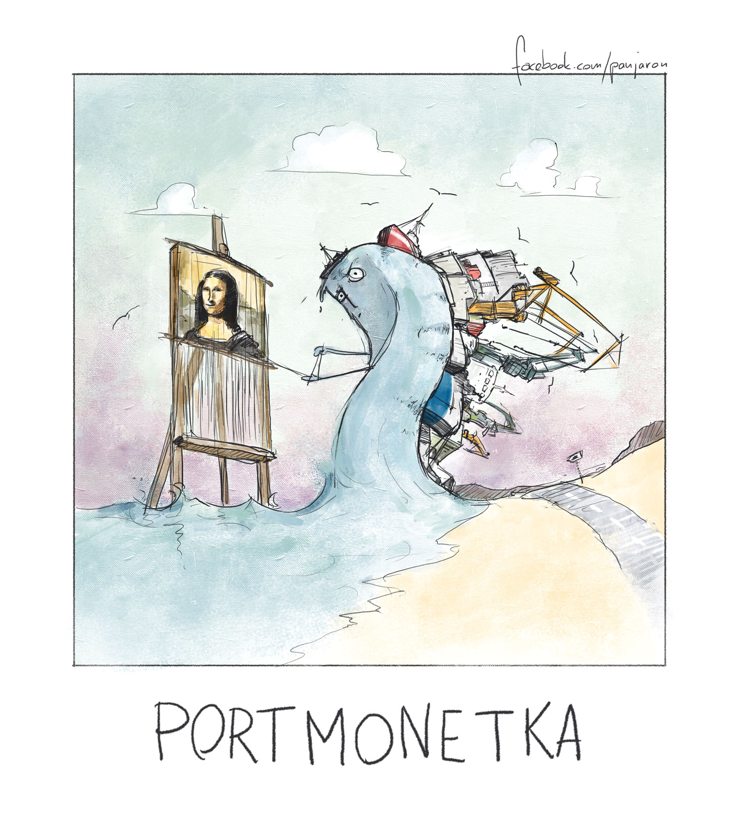 Jaroński rysownik - portmonetka