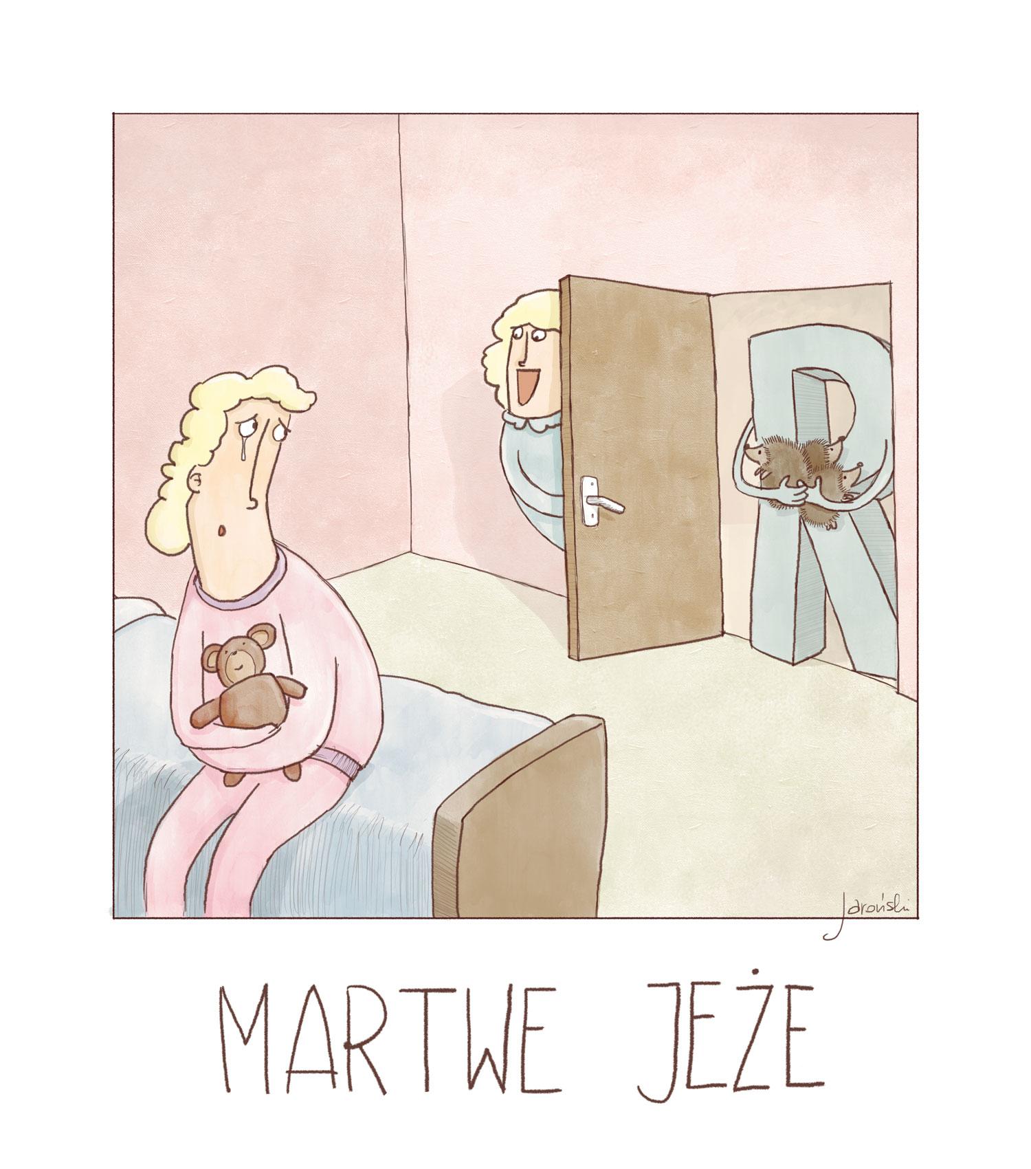 Jaroński rysownik - martwe jeże