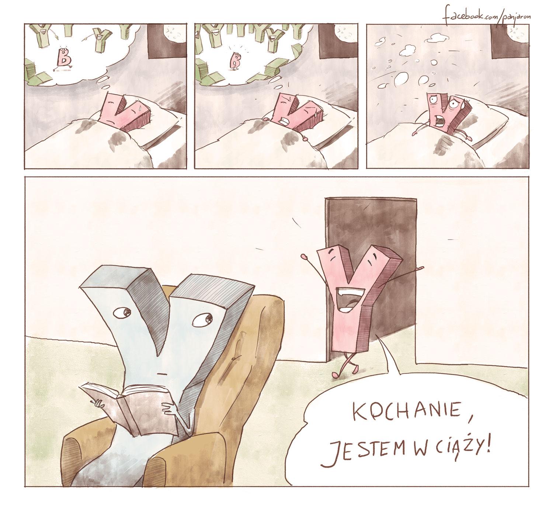 Jaroński rysownik - w ciąży